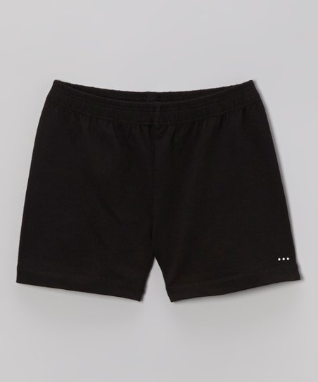 Black Rhinestone Undershorts - Toddler & Girls
