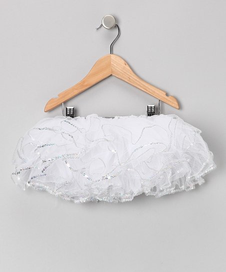 White Sequin Tutu