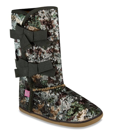 Green Camo Sequin Moragami Boot