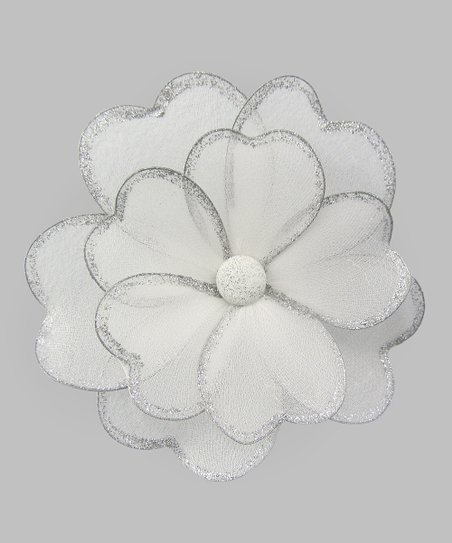 White & Silver Multi-Layer Hanging Flower