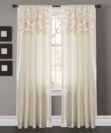 Ivory Circle Curtain Panel - Set of Two