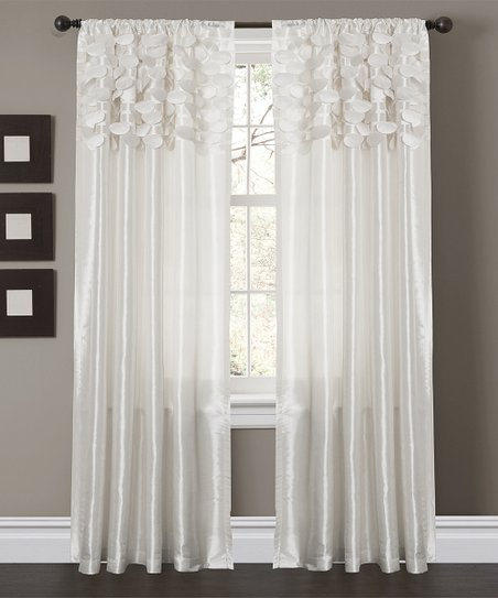 White Circle Curtain Panel - Set of Two