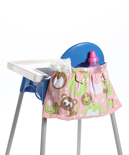 Pink Highchair Organizer