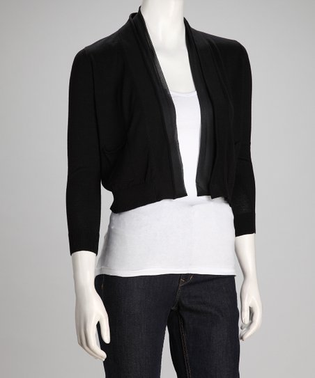 Black Pretty Women Open Cardigan - Women