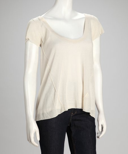 Canvas Exhibition Linen-Blend Layered Top - Women