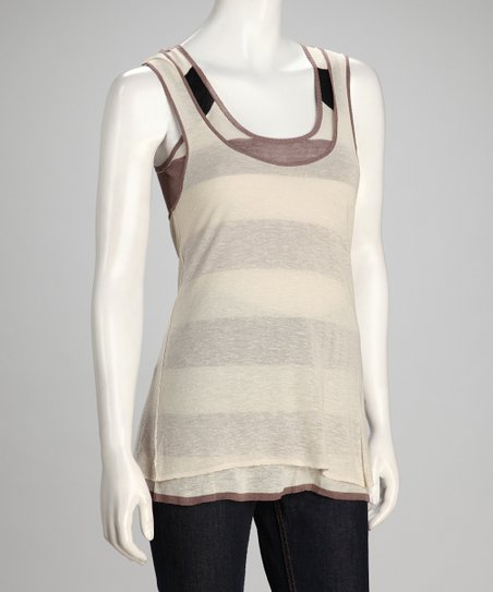 Canvas &amp; Putty Porto Linen-Blend Tank Set - Women