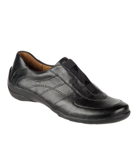 Black Basto Leather Furlong Slip-On Sneaker