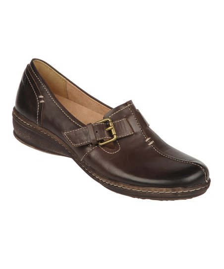 Oxford Brown Milla Mirage Leather Slip-On Shoe