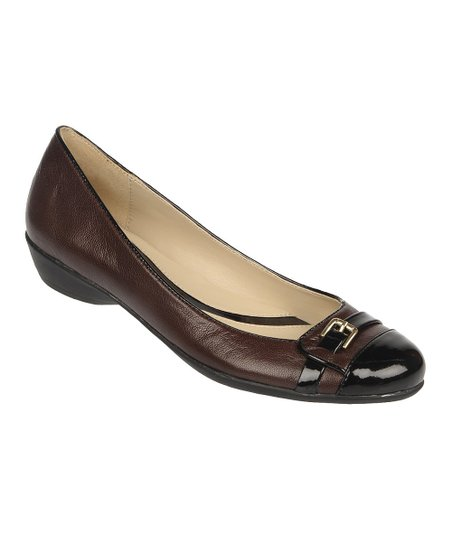 Oxford Brown Fellini Leather Heath Flat