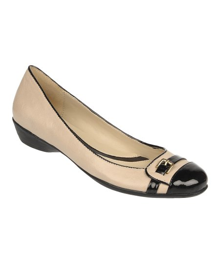Onyx Fellini Leather Heath Flat