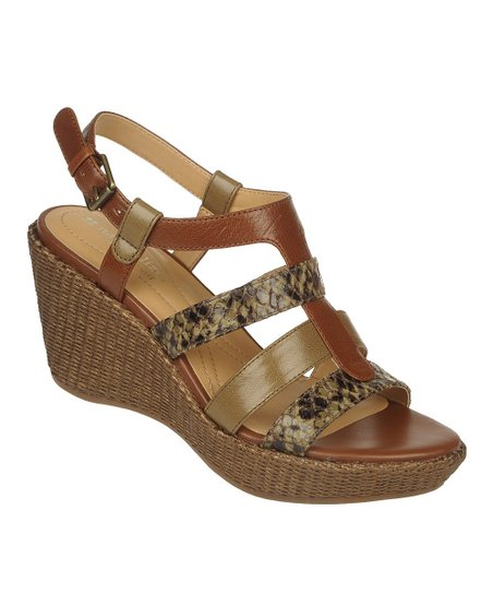 Green Snake Natalie Wedge