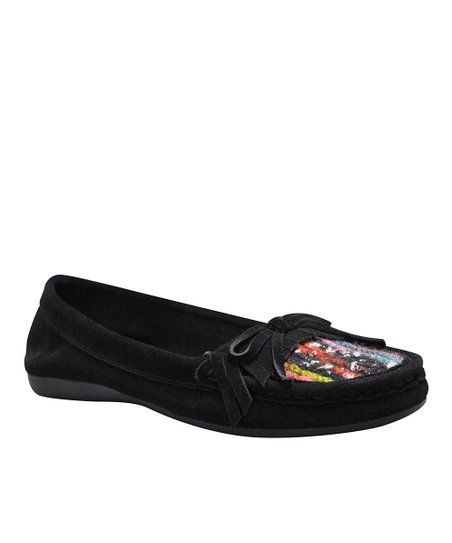 Black Elkins Moccasin
