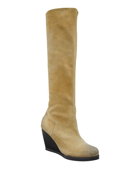 Tan Suede Brood Wedge Boot