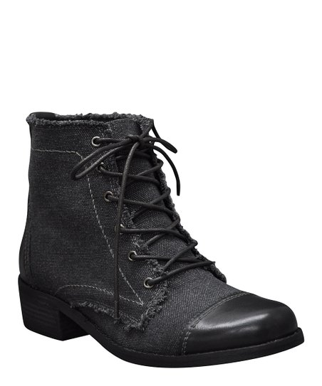 Black Allman Lace-Up Ankle Boot