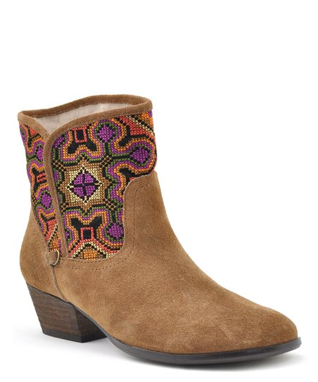 Tan Suede Magic Ankle Boot