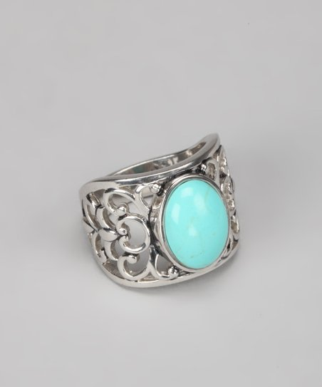 Turquoise & Sterling Silver Filigree Ring