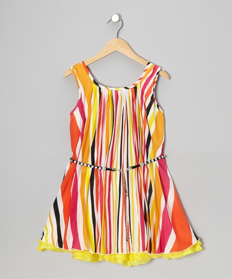 Tropical Sun Ruffle Dress