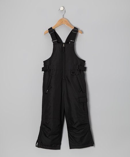 Black Bib Pants - Boys