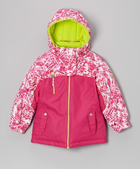 Pink Dewspo Puffer Coat - Girls