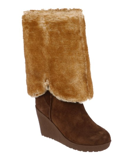 Hickory Suede Highland Fold-Over Boot - Women