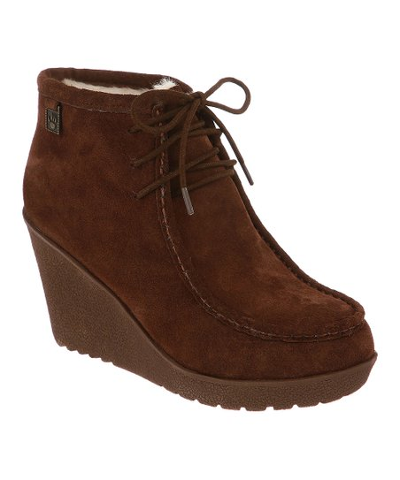 Hickory Suede Astoria Wedge Boot - Women