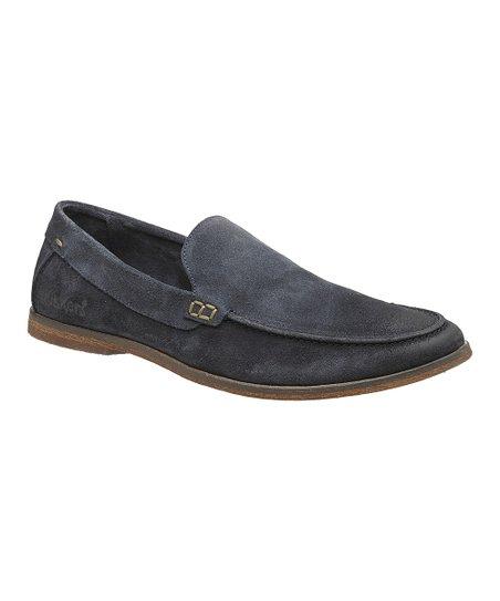 Dark Blue Ringo Suede Slip-On Loafer - Men