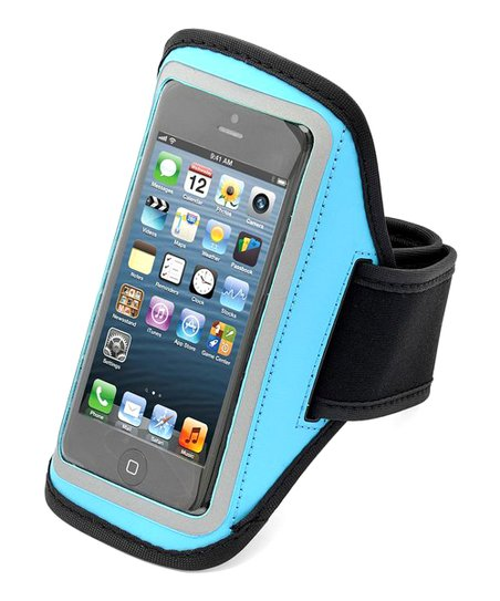 Turquoise Reflective Sport Armband Case for iPhone 4/4s/5