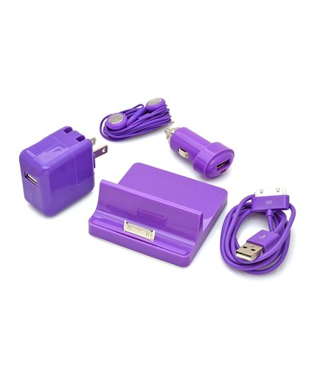 Purple Accessory Set for iPad/iPhone/iPod