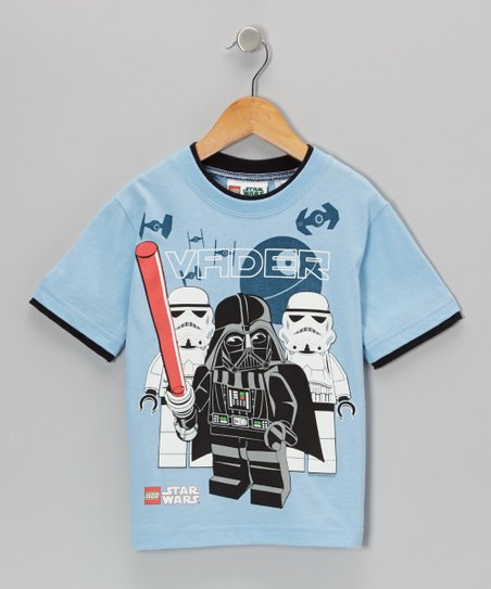 Blue & Gray LEGO Star Wars 'Vader' Tee - Kids