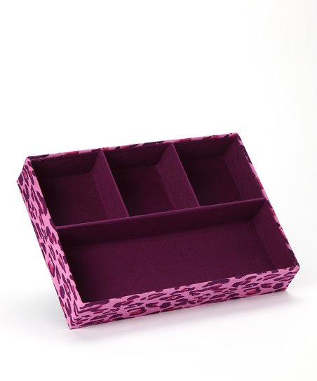 Purple Leopard Four-Section Tray