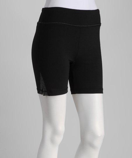 Black & Charcoal Zipper Shorts