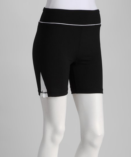 Black & White Zipper Shorts