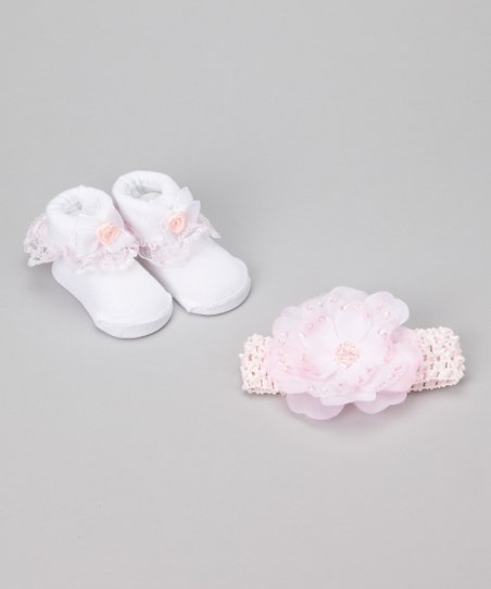 Pink Princess Sequin Headband & Ruffle Socks