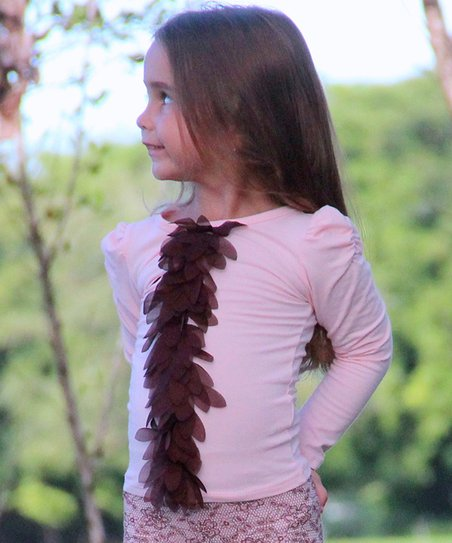 Pink & Brown Petal Top - Toddler