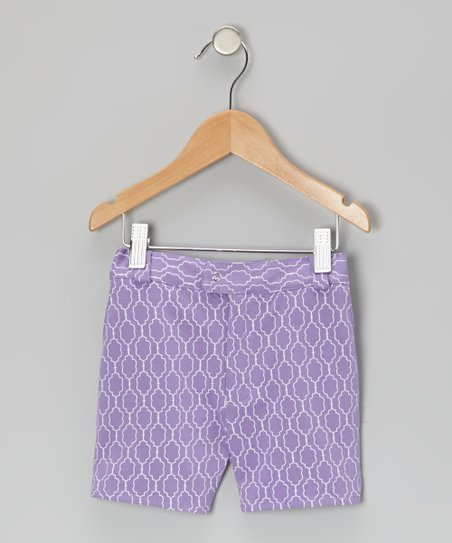 Purple Plum Moroccan Organic Shorts - Infant & Toddler