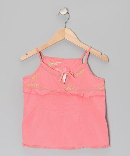 Crayon Pink Flower Camisole - Girls