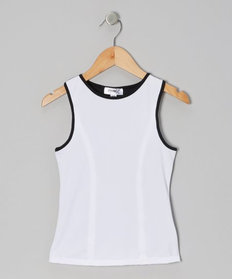 White & Black Tank - Girls