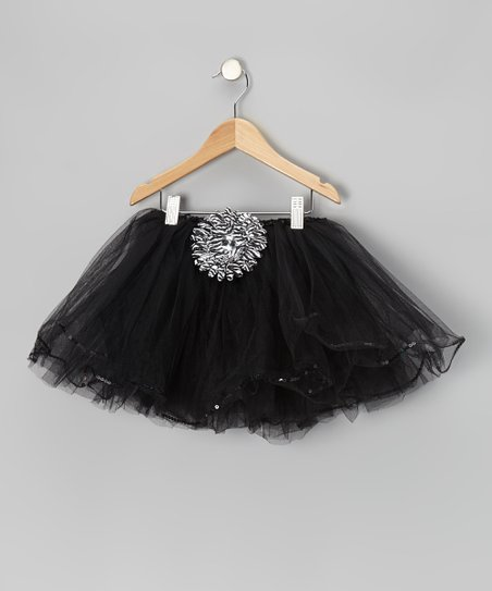 Black Zebra Flower Tutu – Toddler & Girls