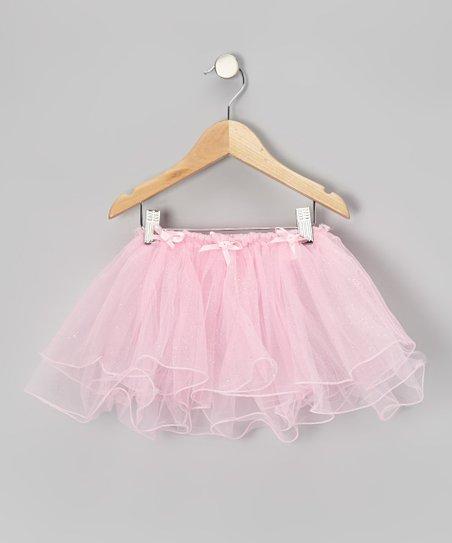 Pink Bow Glitter Tutu