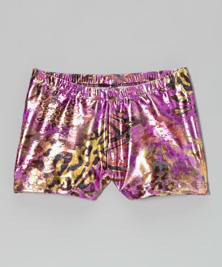 Purple Safari Foil Shorts - Toddler & Girls