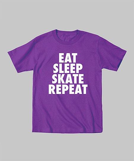 Purple 'Eat Skate Sleep Repeat' Tee – Toddler & Kids