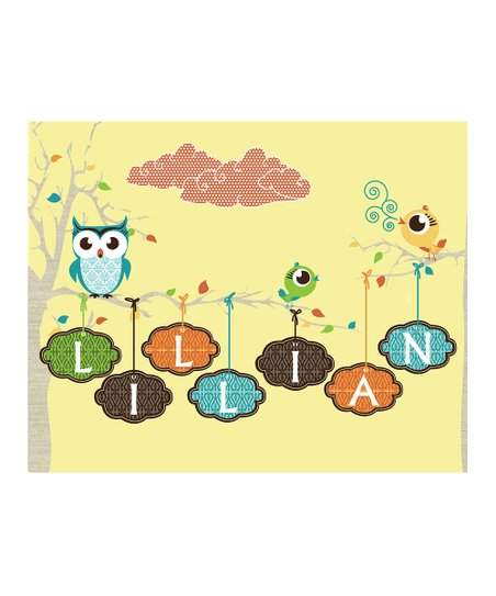 Yellow Personalized Momma&#039;s Baby Bird Print