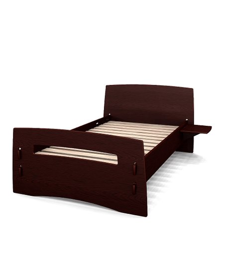 Natural & Espresso Reversible Twin Bed