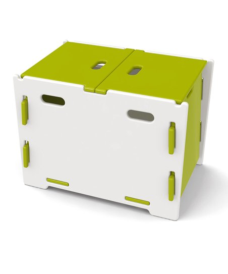 Legar Green &amp; White Toy Box