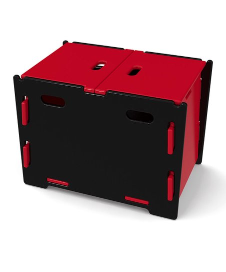 Legar Black &amp; Red Toy Box