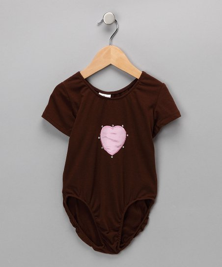 Chocolate Heart Leotard - Infant, Toddler & Girls