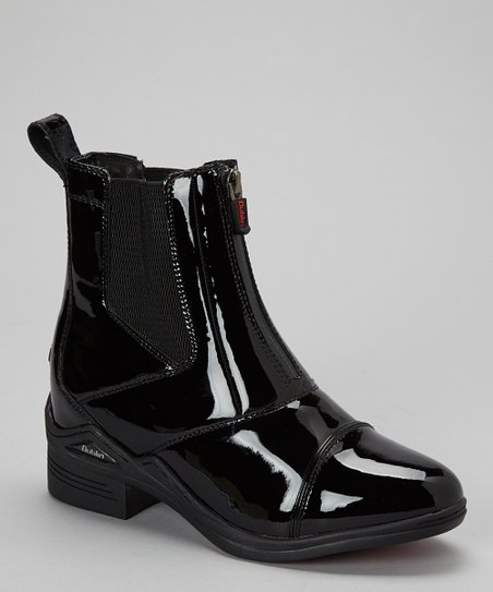 Black Intensity Patent Leather Boot - Women