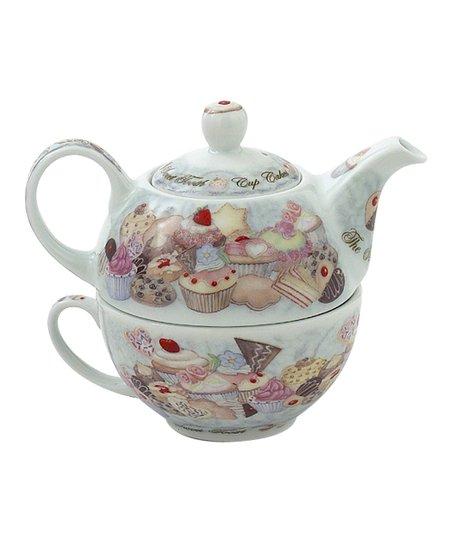Cupcakes & Cookies Tea-for-One Set