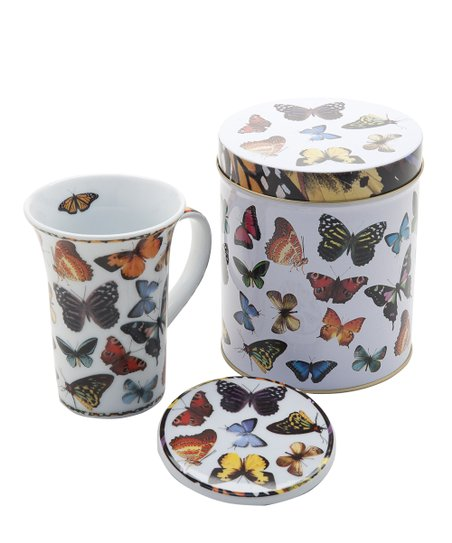 Butterflies Mug &amp; Coaster Set