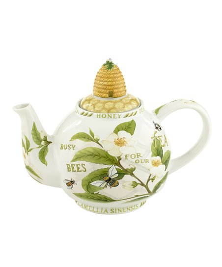 Tea Plant & Honey Bees Two-Cup Teapot